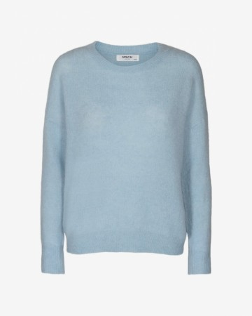 Femme Mohair O Pullover Cashmere Blue